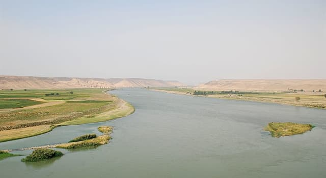 Geography Trivia Question: How many countries does the Euphrates river flow through?