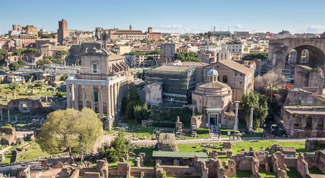 Geography Trivia Question: How many hills form the geographical heart of Rome?