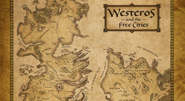 """Film & Fernsehen Wissensfrage: In welcher Fernsehserie spielt die Handlung auf dem fiktiven Kontinent """"Westeros""""?"""