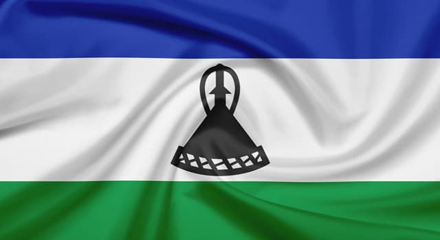 Geography Trivia Question: Which African flag has a hat featured on the central white band?