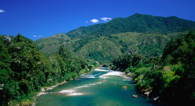 Geography Trivia Question: Which of these is a river in the South Island of New Zealand?