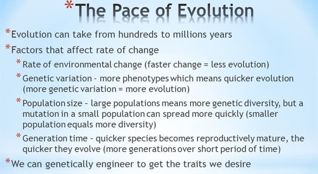 Science Trivia Question: Which of these units is used to measure the rate of evolutionary change?