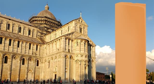 Geography Trivia Question: Which well-known landmark of Italy is hidden in the picture?