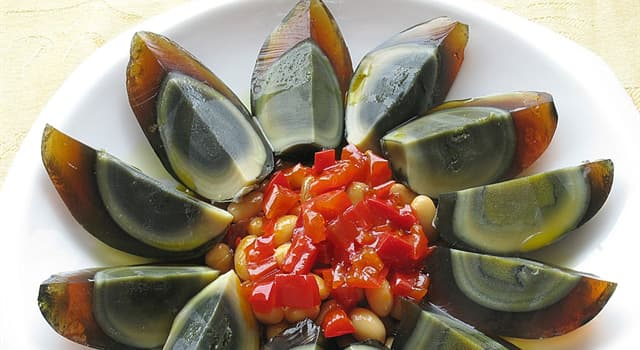 Culture Trivia Question: Century egg is a delicacy from which country?