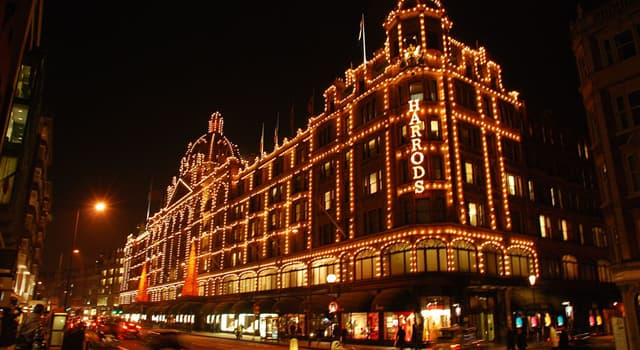 Society Trivia Question: Harrods was the first UK store to install what?
