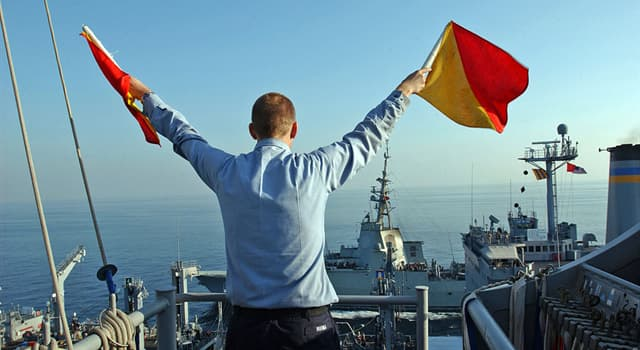 Society Trivia Question: What is the name given to the process of signaling with two flags?