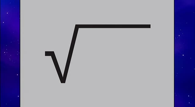 Science Trivia Question: What is the name of the symbol for the square root?