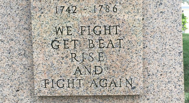 "History Trivia Question: Which American Revolutionary War Army leader said, ""We fight, get beat, rise, and fight again.""?"