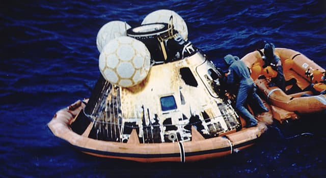 Society Trivia Question: Which ship recovered the Apollo 11 astronauts on their return from the Moon?