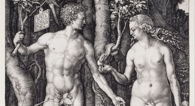 "Culture Trivia Question: Which of the following artists created ""Adam and Eve"" shown below?"