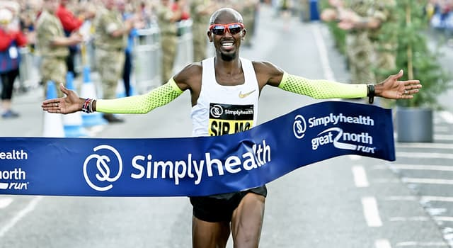 Sport Trivia Question: As of 2018, how many times has Mo Farrah won the Great North Run, held in the North East of England?
