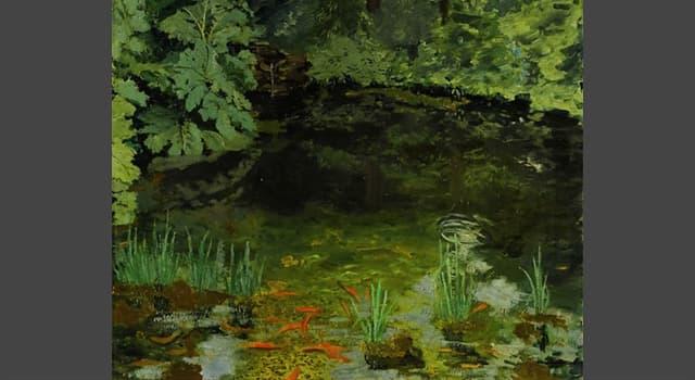 """Kultur Wissensfrage: Das Bild """"The Goldfish Pool"""" welches britischen Premierministers wurde 2014 für 1,8 Mio. £ verkauft?"""