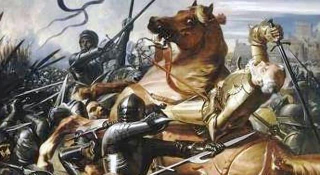 Geschichte Wissensfrage: Die Schlacht von Castillon gilt als die letzte Schlacht in welchem Konflikt?