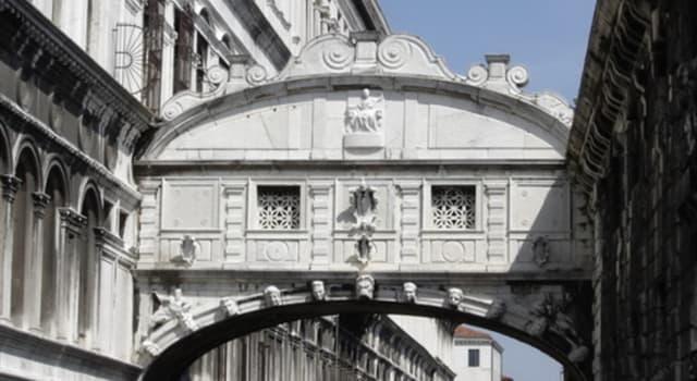"""Kultur Wissensfrage: """"Die Seufzerbrücke"""", entworfen von Antonio Contino, befindet sich in welcher italienischen Stadt?"""