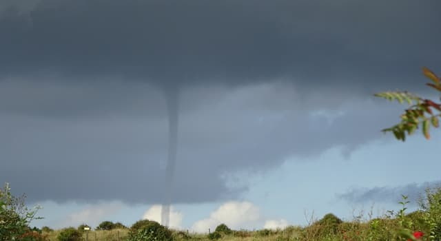 Science Trivia Question: Which of these tornados is not associated with a mesocyclone?
