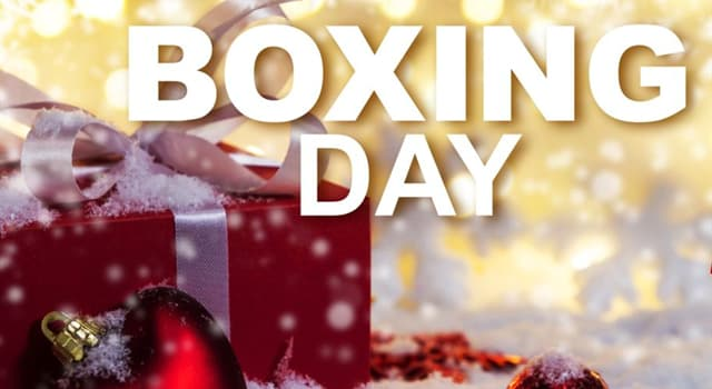 Culture Trivia Question: In which country did Boxing Day originate?