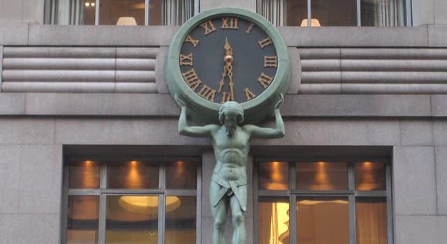 Gesellschaft Wissensfrage: Über welchem berühmten Laden in New York City findet man die Atlas Uhr?