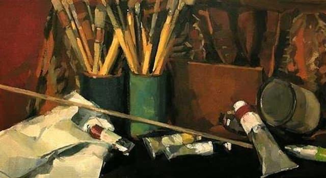 """Kultur Wissensfrage: Was hält in der Hand ein Mann auf dem Gemälde von Grant Wood """"American Gothic""""?"""