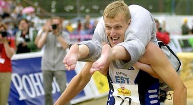 Sport Wissensfrage: Was ist der Preis für den Sieger der Weltmeisterschaften im Tragen von Frauen in Finnland?