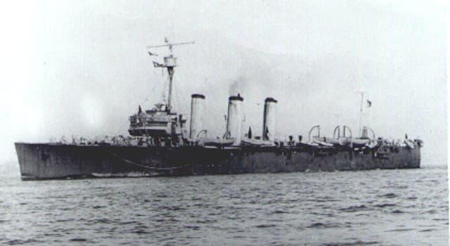 Geschichte Wissensfrage: Was ließ den brasilianischen Kreuzer Bahia sinken?