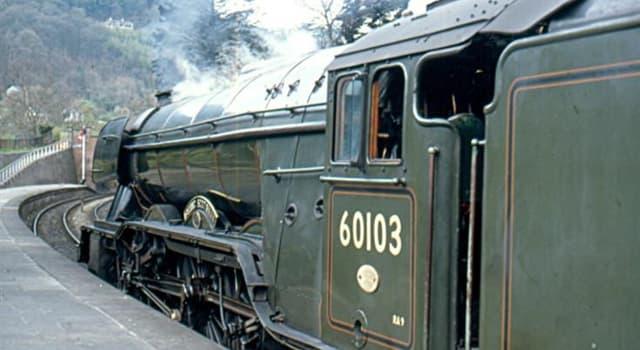 Geschichte Wissensfrage: Welche berühmte Dampflokomotive trug Nr. 60103, als sie von British Railways zurückgezogen wurde?