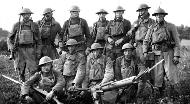 """Geschichte Wissensfrage: Welche Nationen gehörten zu den """"Big Four""""-Verbündeten im Ersten Weltkrieg?"""