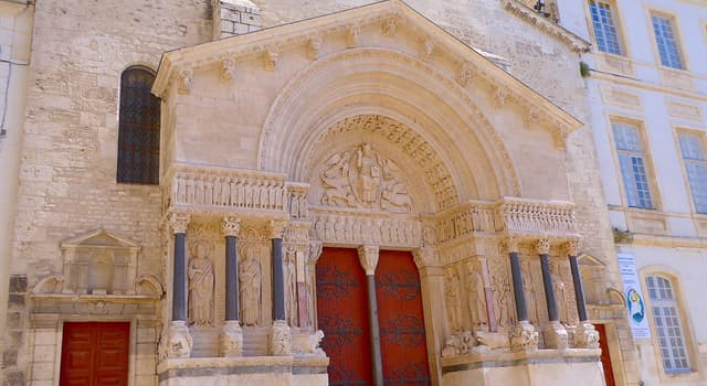 History Trivia Question: What is the name of this famous church in the city of Arles, France?