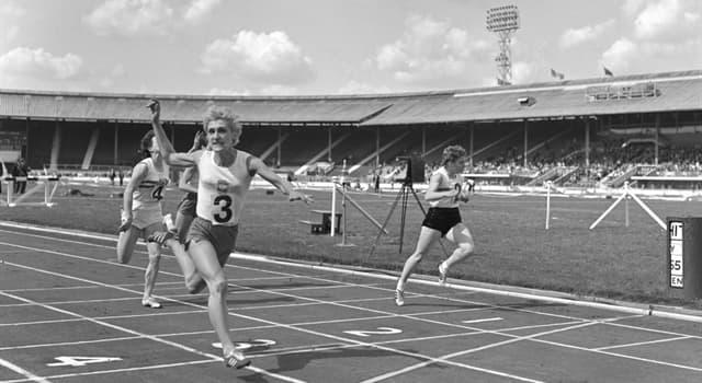Sport Trivia Question: What was the Polish sprinter Ewa Klobukowska the first to do?