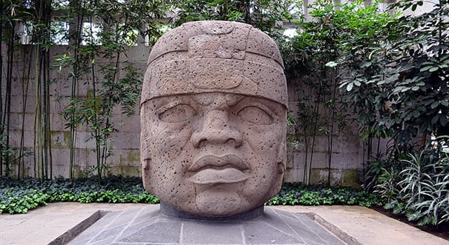 "Culture Trivia Question: Which civilization is famous for its artwork, named ""colossal heads""?"