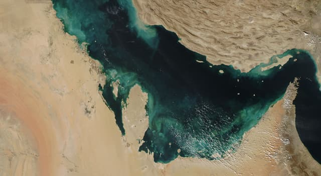 Geography Trivia Question: Which country borders both the Caspian Sea and the Persian Gulf?
