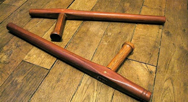 Culture Trivia Question: Which Okinawan weapon is in the picture?