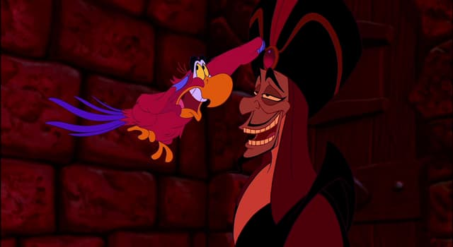 """Movies & TV Trivia Question: In Disney's """"Aladdin"""", what is the name of the red-plumed talking scarlet macaw?"""