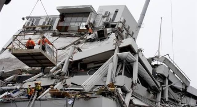 History Trivia Question: In what month and year did an earthquake in Christchurch, New Zealand, kill 185 people?
