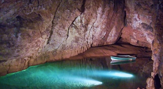 Culture Trivia Question: What are Wookey Hole Caves famous for?