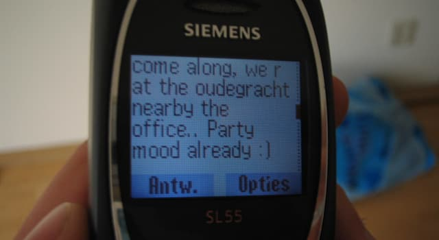 Society Trivia Question: What does the abbreviation SMS mean?