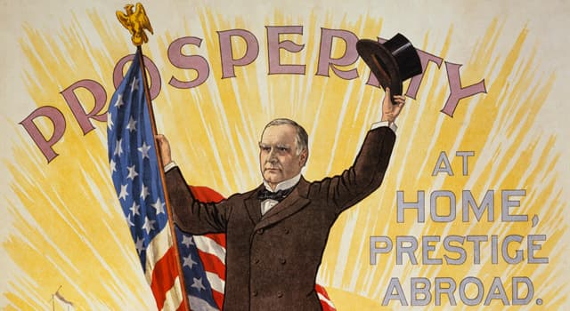 History Trivia Question: What was done in commemoration of the 25th President of the United States, William McKinley?