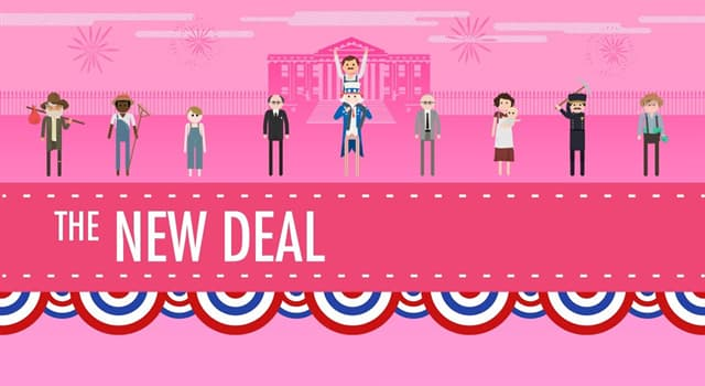 "History Trivia Question: Which American President enacted the famous ""New Deal""?"