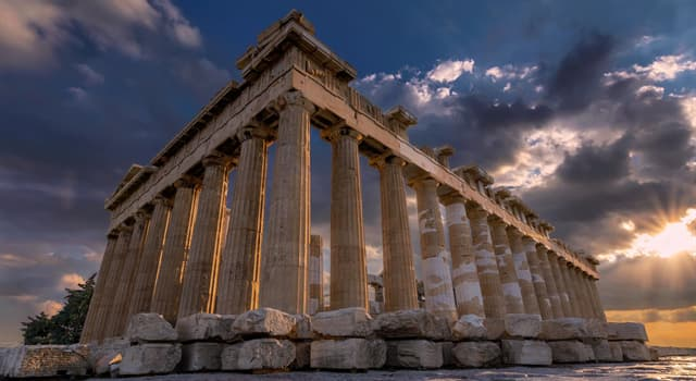 Culture Trivia Question: Which former temple on the Athenian Acropolis, Greece, was dedicated to the goddess Athena?