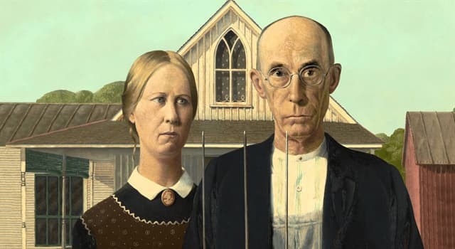 "Culture Trivia Question: Who did artist Grant Wood use as the model for the farmer in his painting ""American Gothic""?"