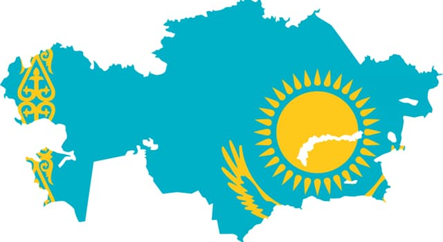 Geography Trivia Question: How many countries border Kazakhstan?