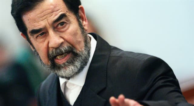 Society Trivia Question: Saddam Hussein was the president of which country?
