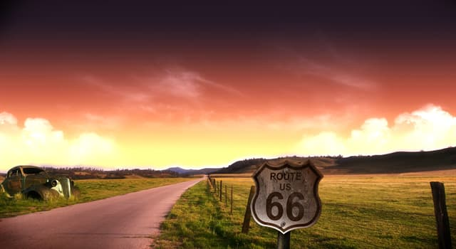 Geography Trivia Question: The American highway Route 66 passes through how many states?