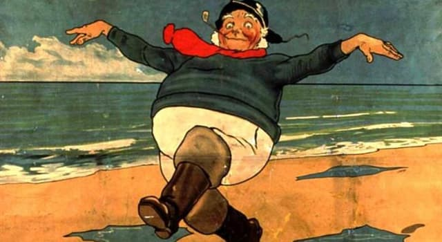 "Geography Trivia Question: The ""Jolly Fisherman"" (pictured) is the emblem of which English seaside town?"