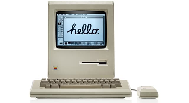 Society Trivia Question: When did the Macintosh personal computer go on sale?