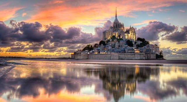 Geography Trivia Question: Where is the island Mont-Saint-Michel located?