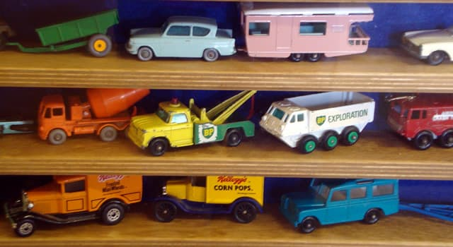 History Trivia Question: Which company manufactured these vintage miniature metal cars?