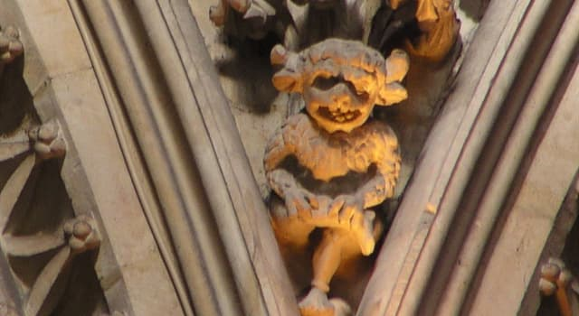 Culture Trivia Question: Which English cathedral is home to the mischievous little being in the picture?