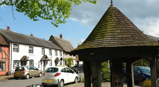 History Trivia Question: Who or what was said to have arrived in the Suffolk village of Woolpit in the 12th century?