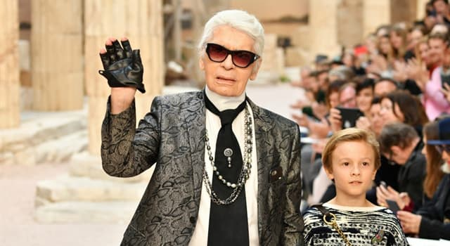 Society Trivia Question: What was Karl Lagerfeld famous for?