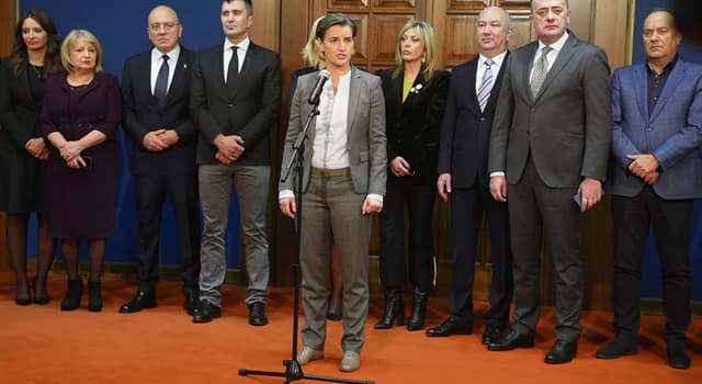 Society Trivia Question: As of 2019, who is the Prime Minister of Serbia?